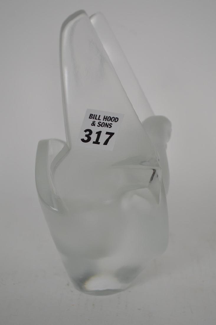 """Lalique """"Sylvie"""" flower vase, 8 1/2""""h - 3"""