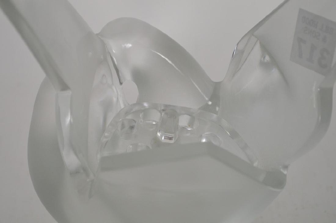 """Lalique """"Sylvie"""" flower vase, 8 1/2""""h - 5"""