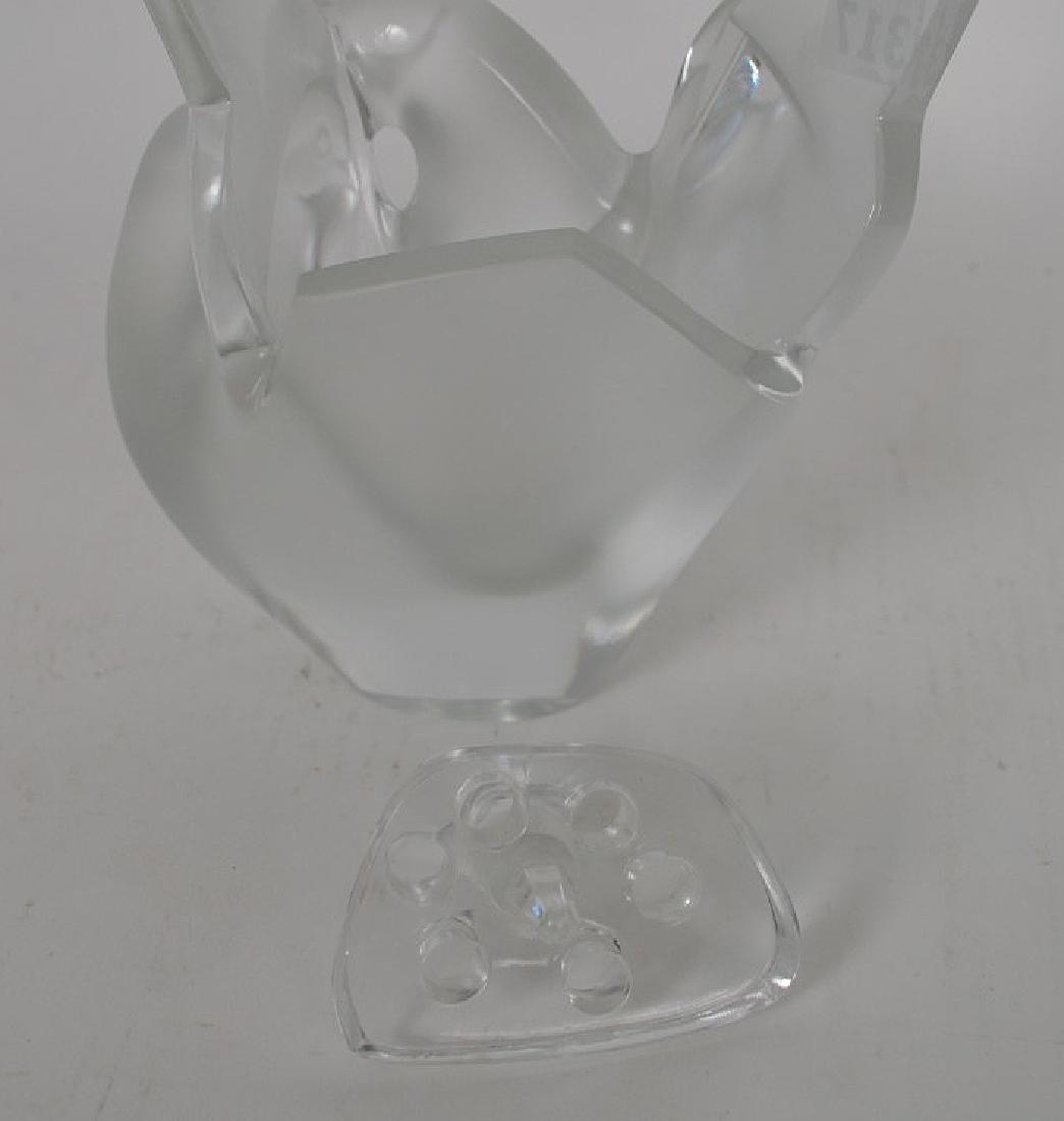 """Lalique """"Sylvie"""" flower vase, 8 1/2""""h - 6"""