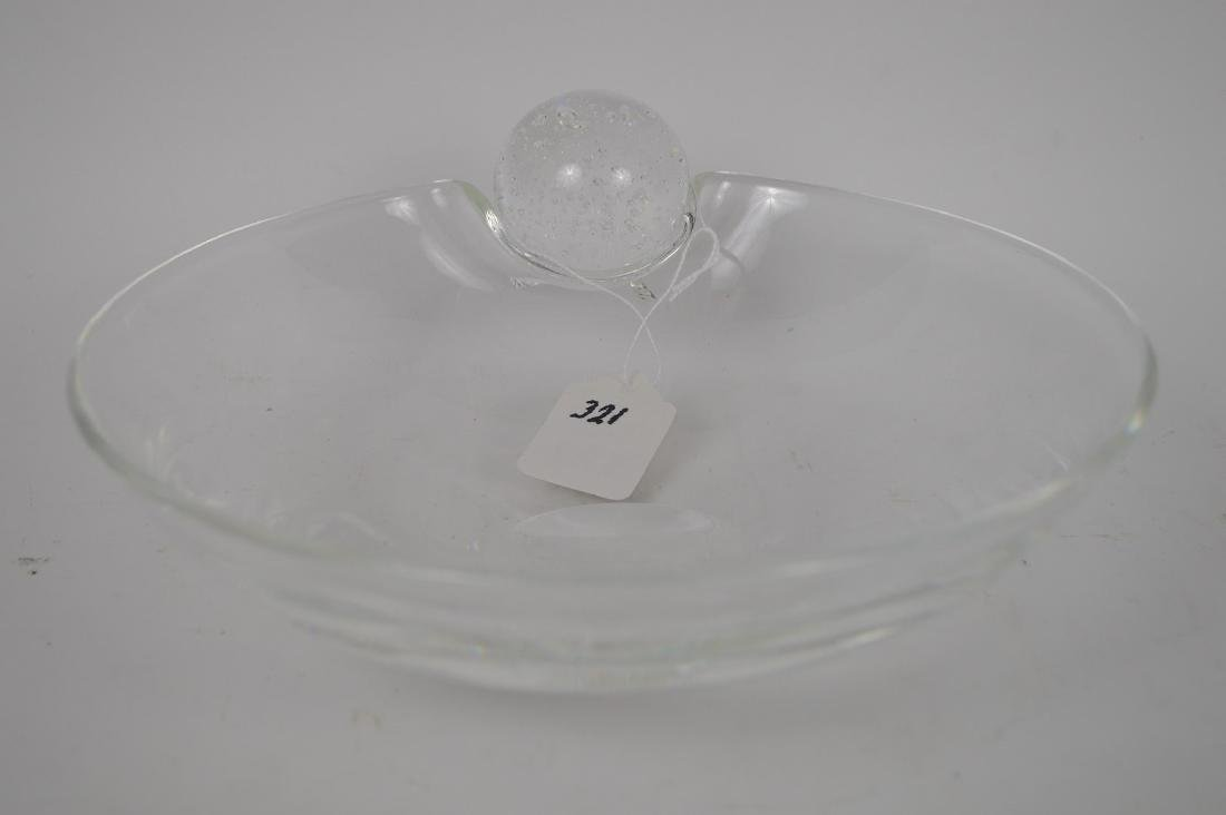 "Steuben crystal bowl, 3 1/8""h x 8 1/2""dia"
