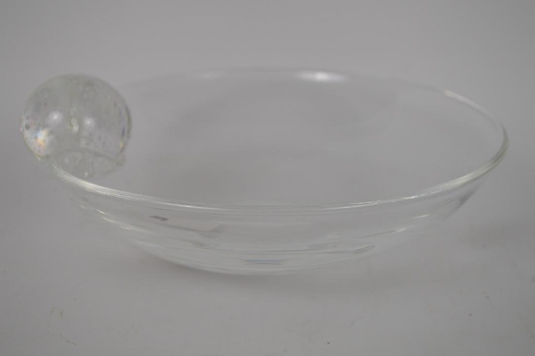 "Steuben crystal bowl, 3 1/8""h x 8 1/2""dia - 3"