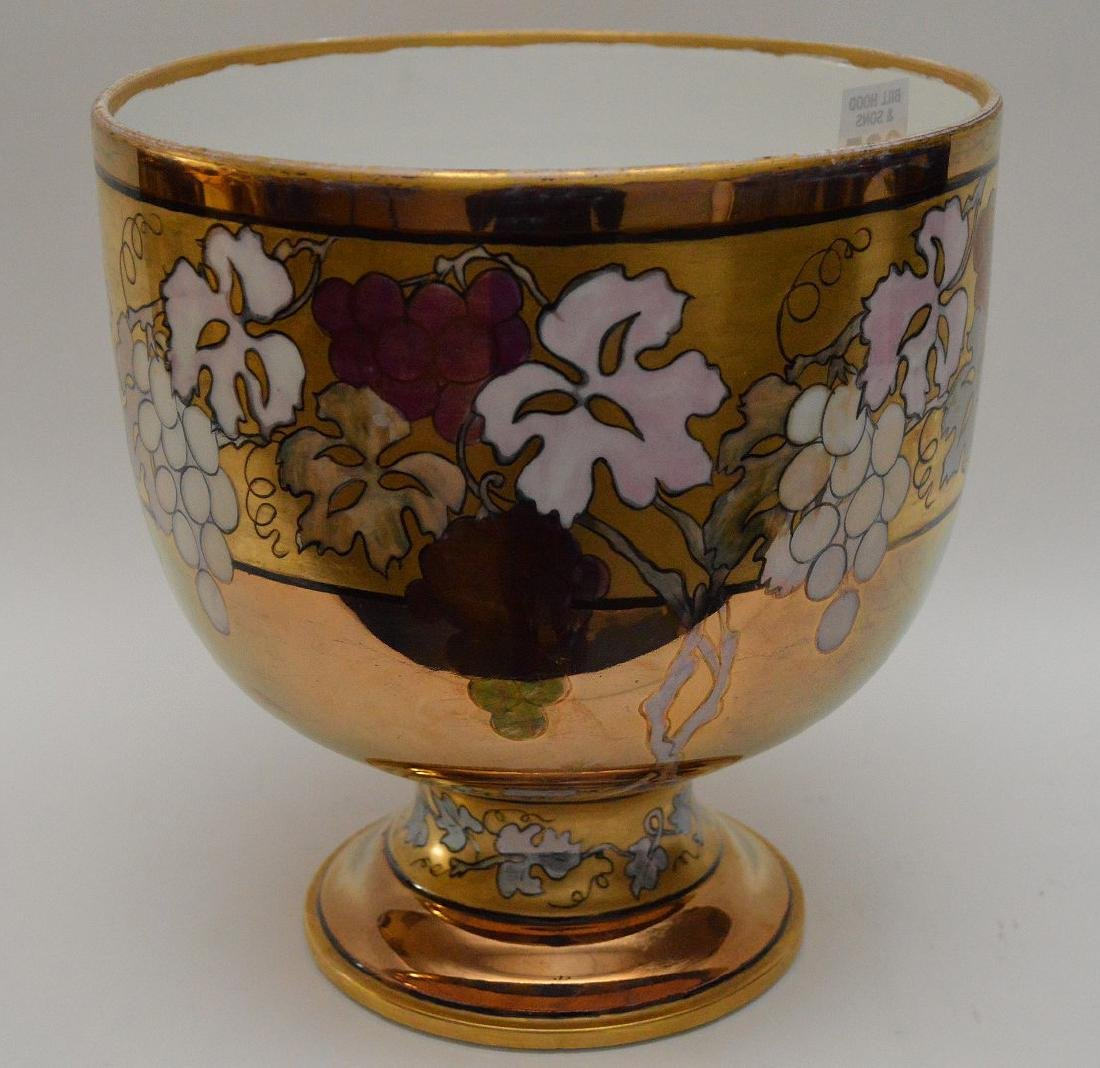 French Limoges hand painted pedestal centerpiece, 10