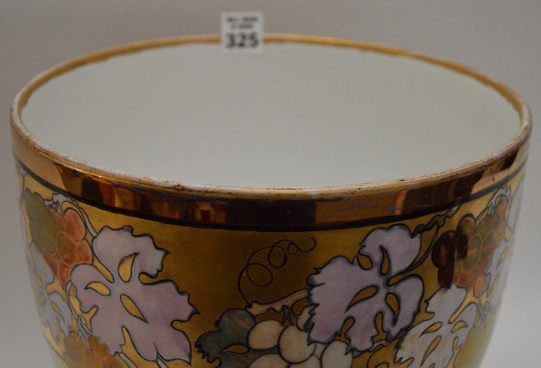 French Limoges hand painted pedestal centerpiece, 10 - 4