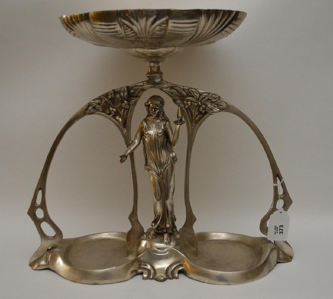 Art Nouveau style figural support centerpiece with