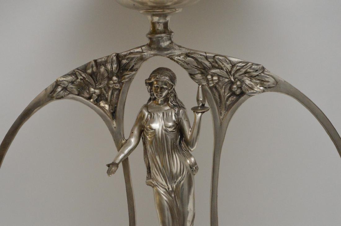 Art Nouveau style figural support centerpiece with - 2
