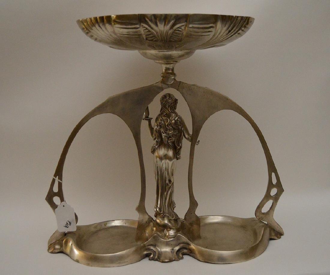 Art Nouveau style figural support centerpiece with - 5