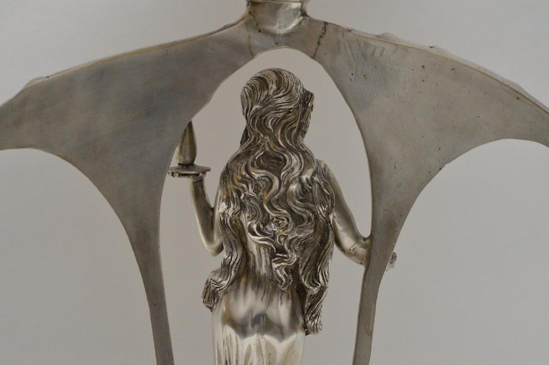 Art Nouveau style figural support centerpiece with - 6