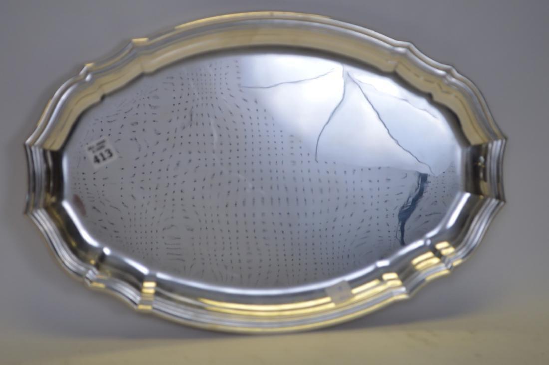 """Puiforcat Silverplate Serving Platter. 20"""" x 13"""""""