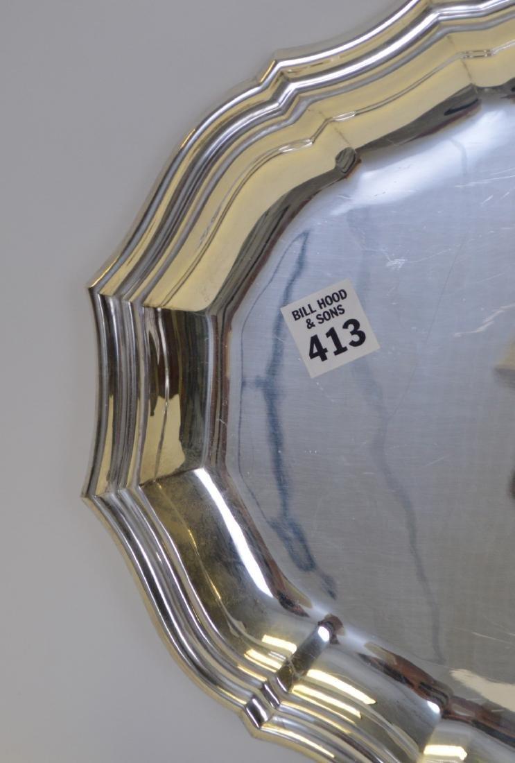"""Puiforcat Silverplate Serving Platter. 20"""" x 13"""" - 3"""