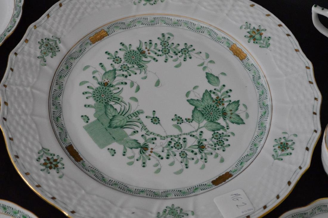 19 pcs. Assorted Herend, mostly green Indian basket - 4