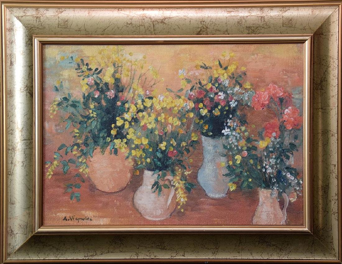 Andre Vignoles (French  1920-2001) oil on canvas, Table