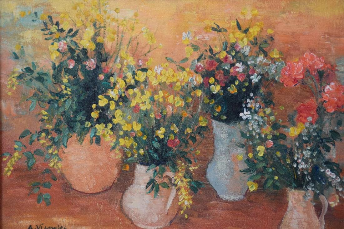 Andre Vignoles (French  1920-2001) oil on canvas, Table - 2