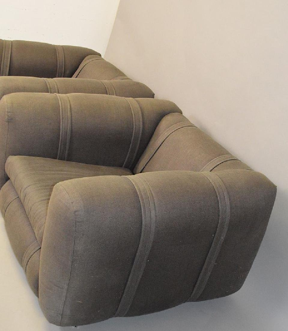 Pair charcoal color upholstered chunky arm chairs - 3