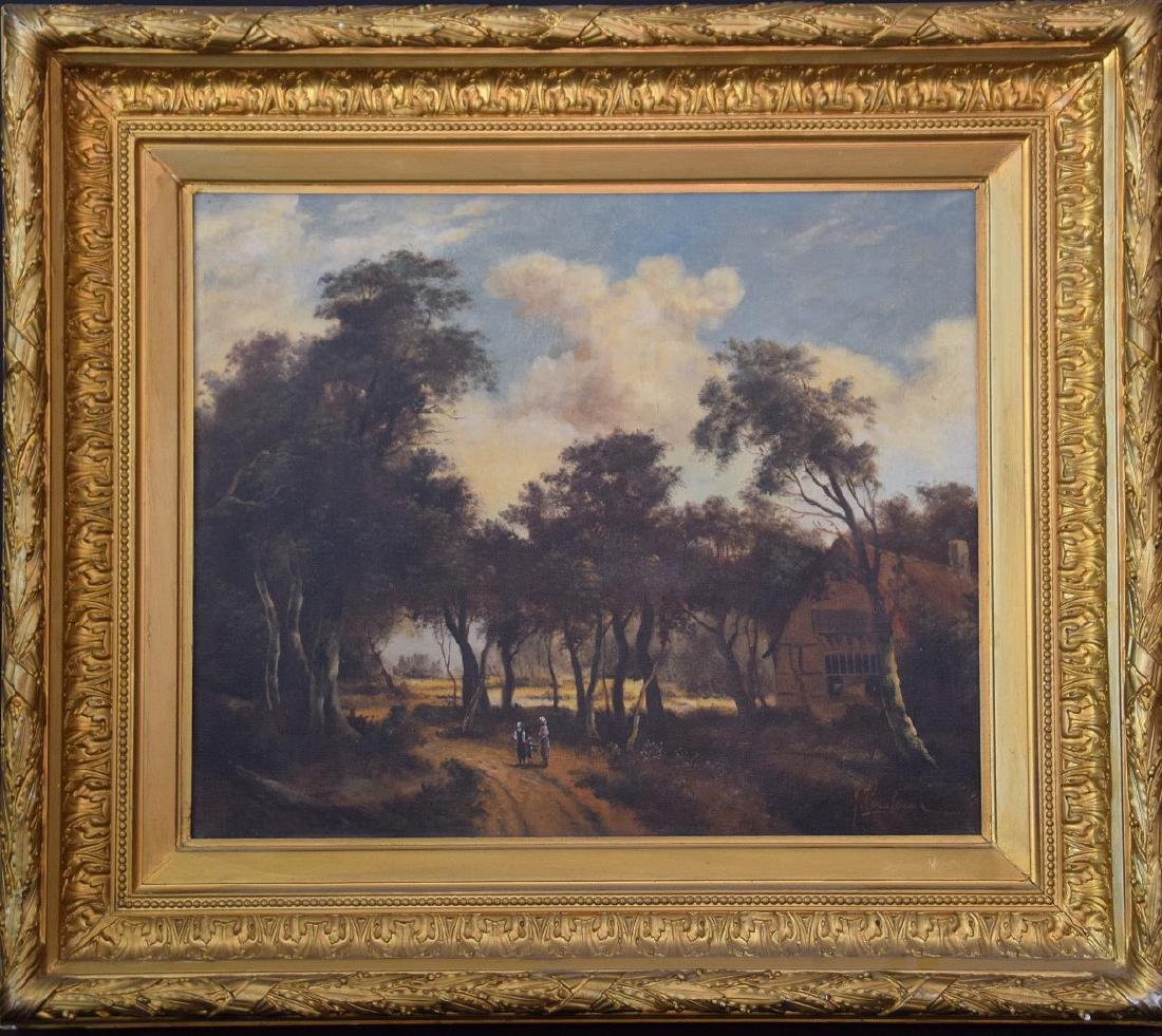 19th Century Dutch School, Landscape, signed Illegibly,