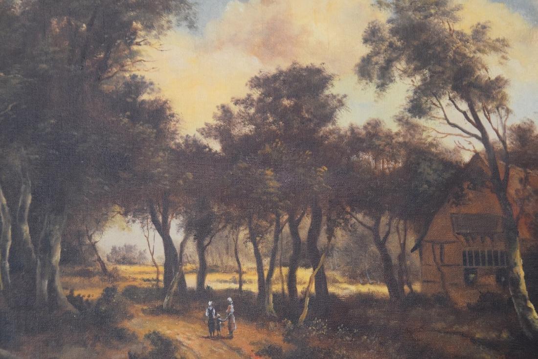 19th Century Dutch School, Landscape, signed Illegibly, - 2