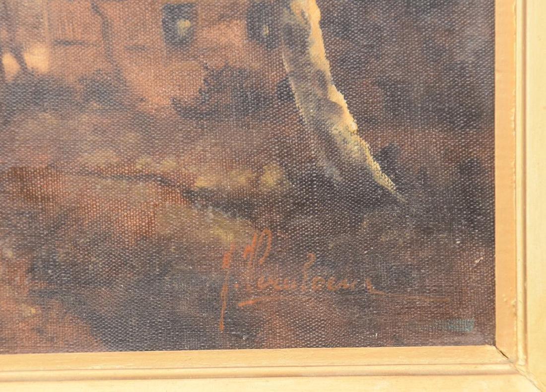 19th Century Dutch School, Landscape, signed Illegibly, - 3