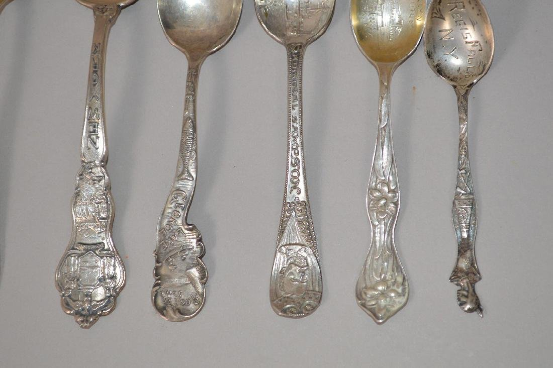 8 Sterling Silver Souvenir Spoons. Weight 4 ozt, 2 New - 2