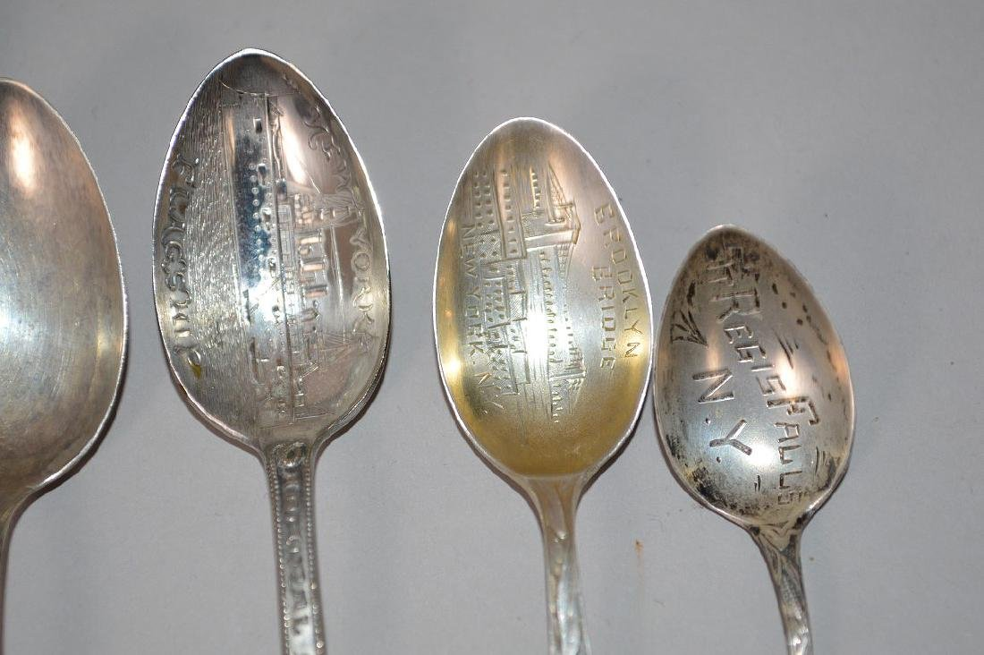 8 Sterling Silver Souvenir Spoons. Weight 4 ozt, 2 New - 3