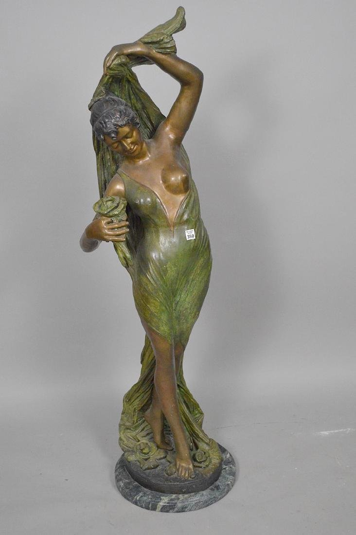 Bronze Art Nouveau Woman Sculpture AFTER: Giorgio