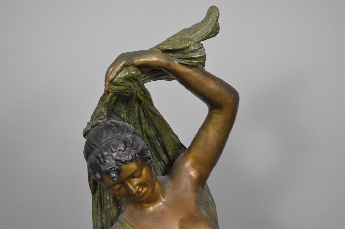 Bronze Art Nouveau Woman Sculpture AFTER: Giorgio - 2