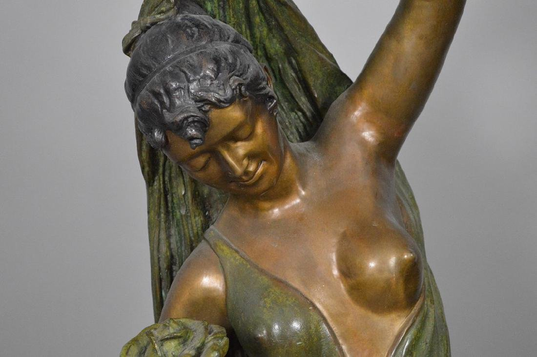 Bronze Art Nouveau Woman Sculpture AFTER: Giorgio - 3