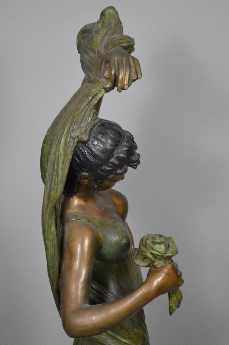Bronze Art Nouveau Woman Sculpture AFTER: Giorgio - 6