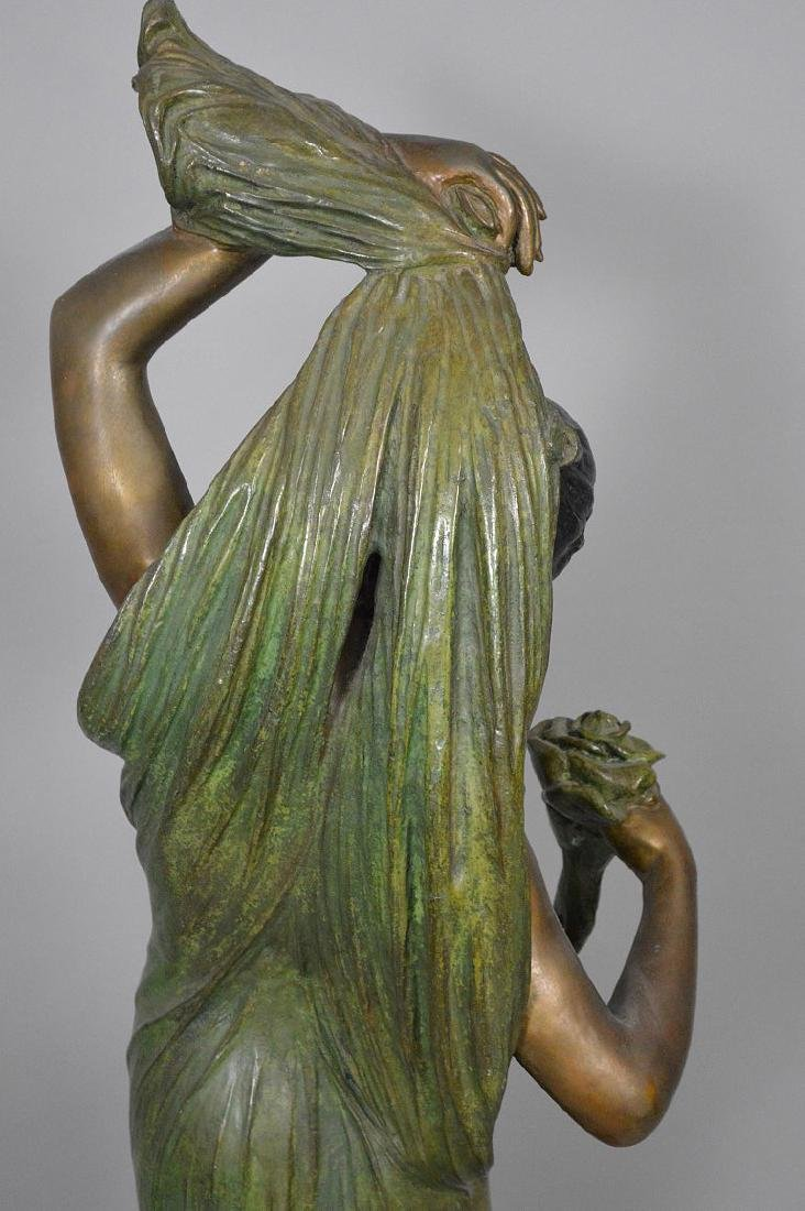 Bronze Art Nouveau Woman Sculpture AFTER: Giorgio - 8