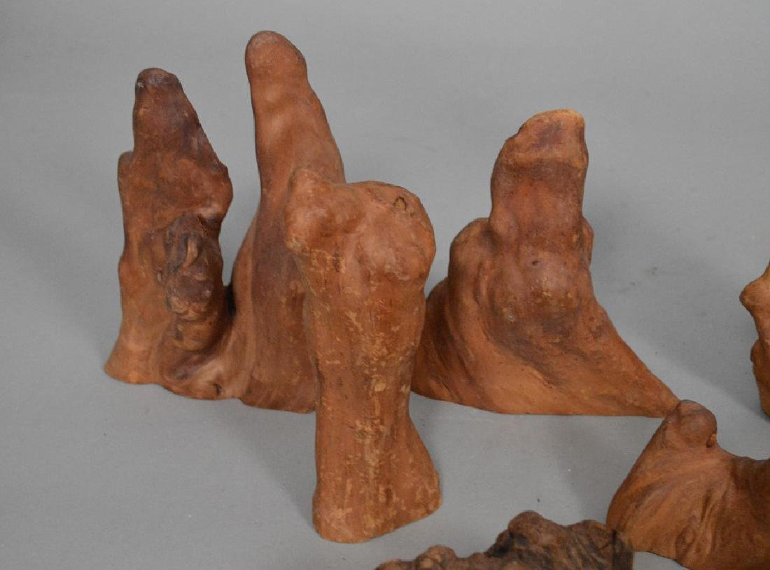Assorted collection of antique rootwood - 4