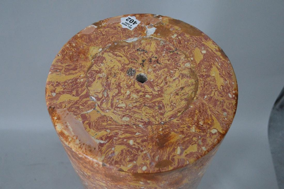 Faux marble pedestal - 4