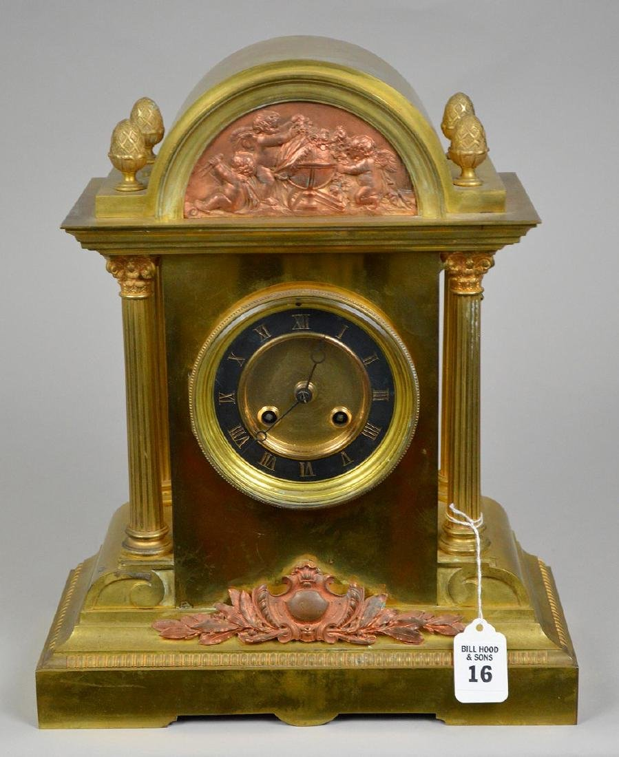 19th Century Bronze Clock with time and strike