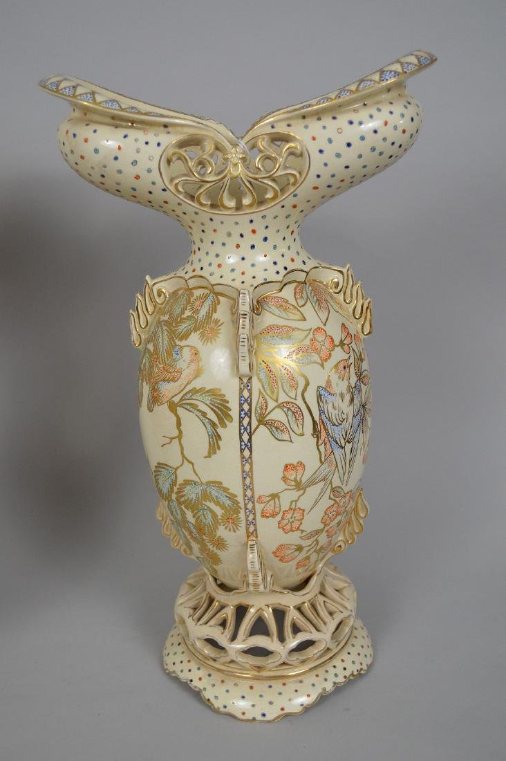 2 Pieces Fischer Budapest Porcelain. Reticulated - 2