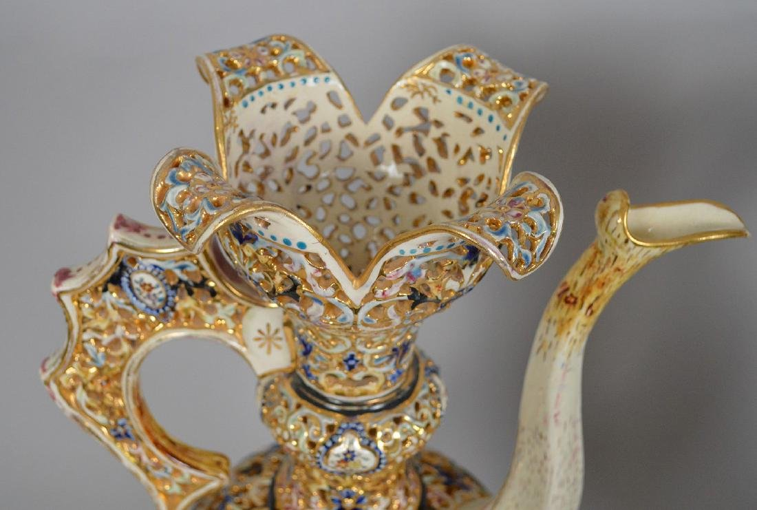 2 Pieces Fischer Budapest Porcelain. Reticulated - 5