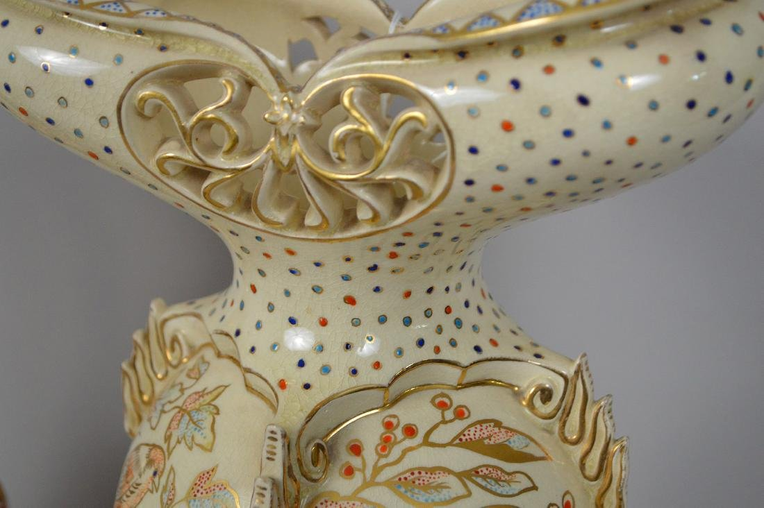 2 Pieces Fischer Budapest Porcelain. Reticulated - 9