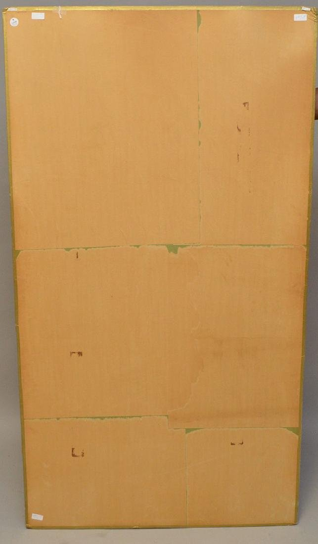 Large Chinese Watercolor On Paper laid down on board - 7