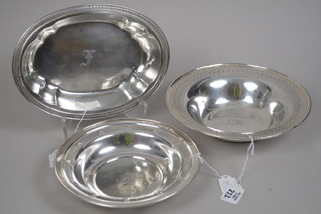 3 STERLING SILVER BOWLS. 22 OZT Condition they are