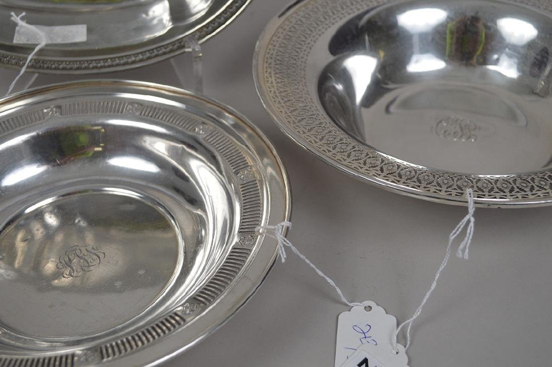 3 STERLING SILVER BOWLS. 22 OZT Condition they are - 4