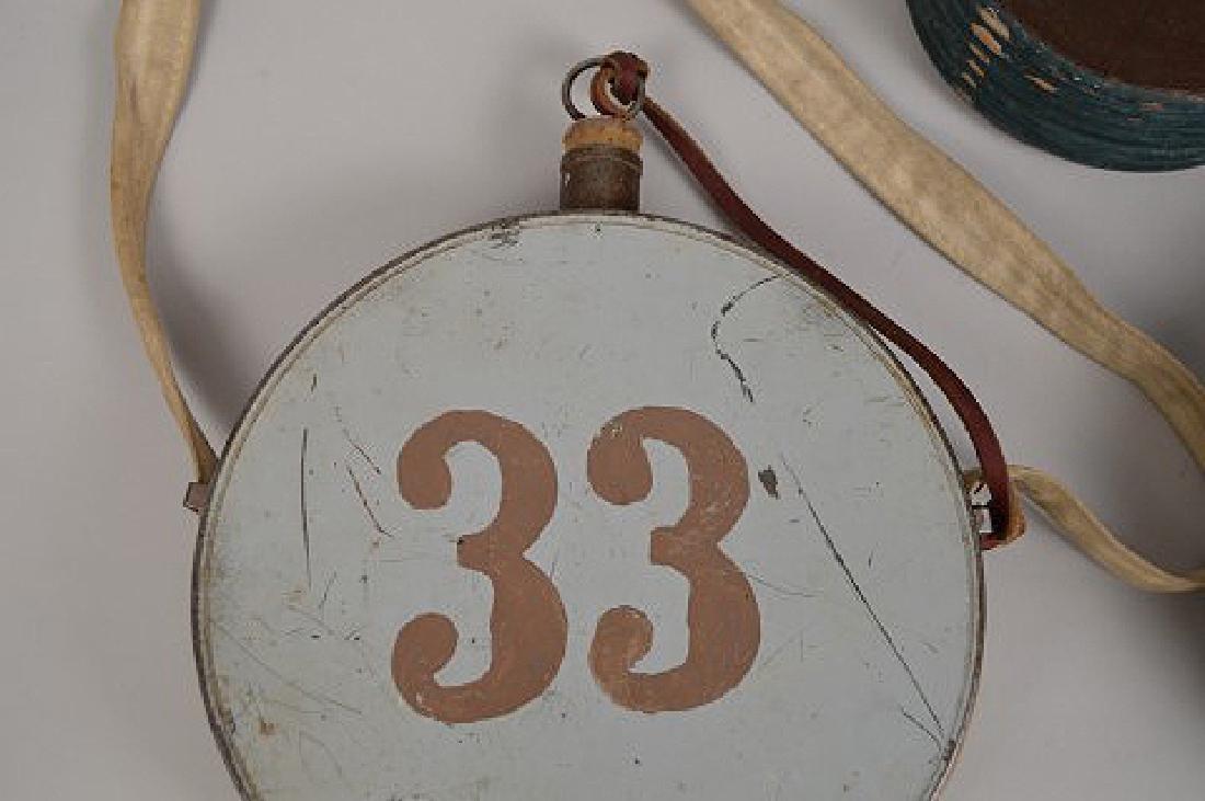 3 early American Civil War Canteens and powder Keg - 3