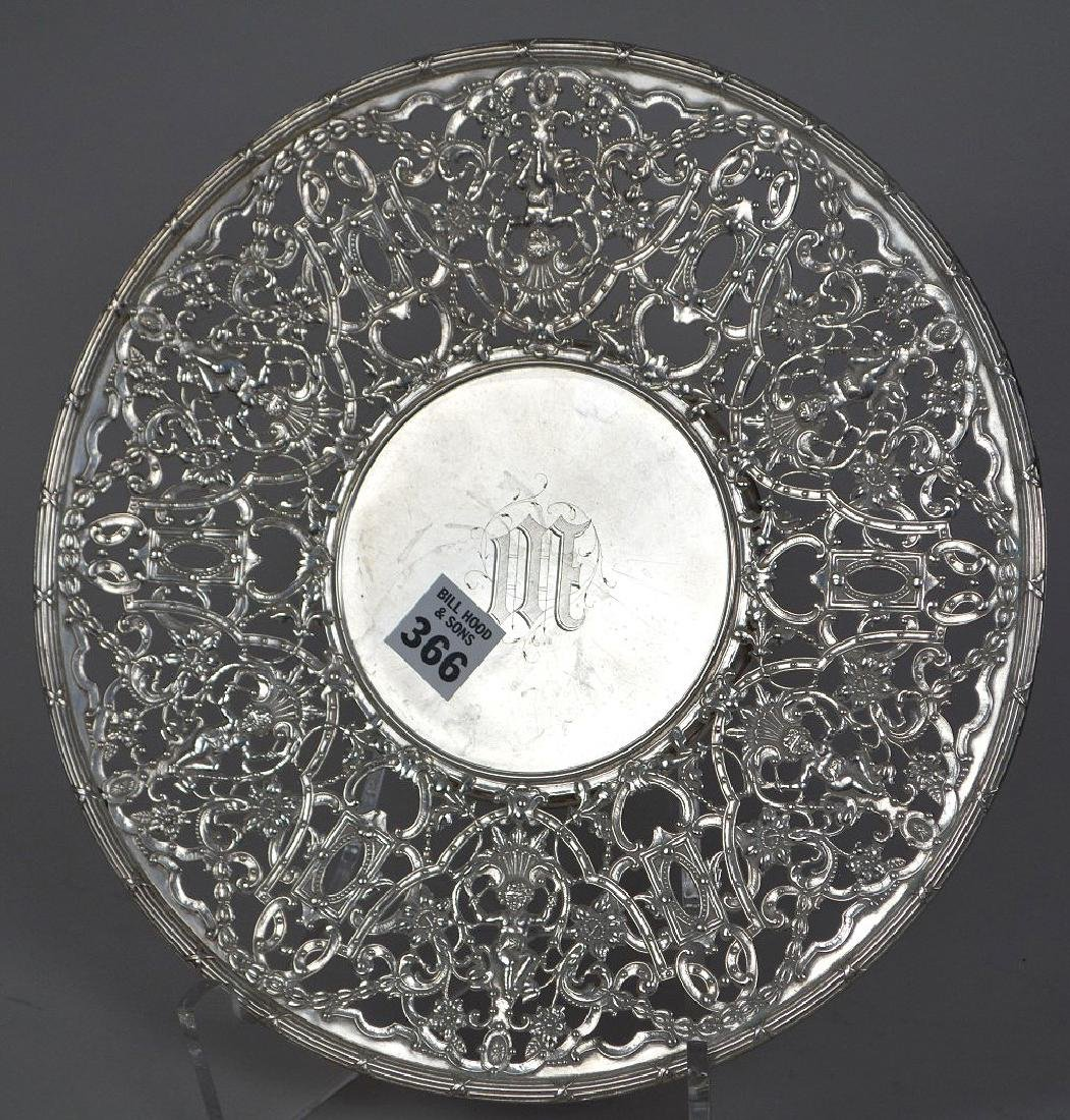 "Gorham sterling round reticulated tray, 15 ozt, 11""dia"