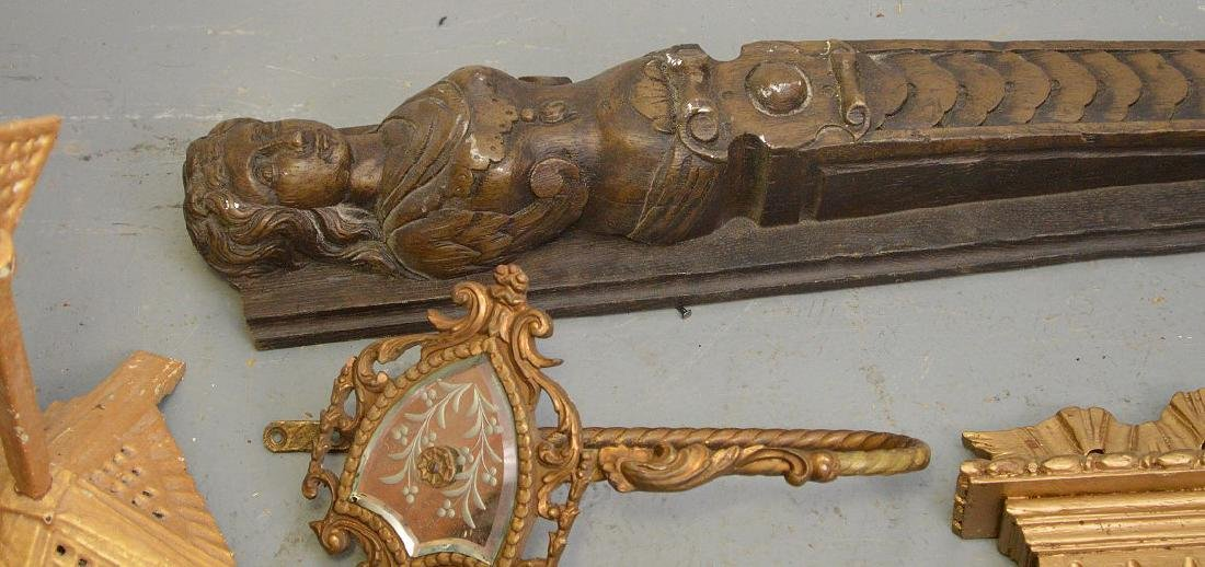 Collection of antique brass & wood accoutrements, - 8