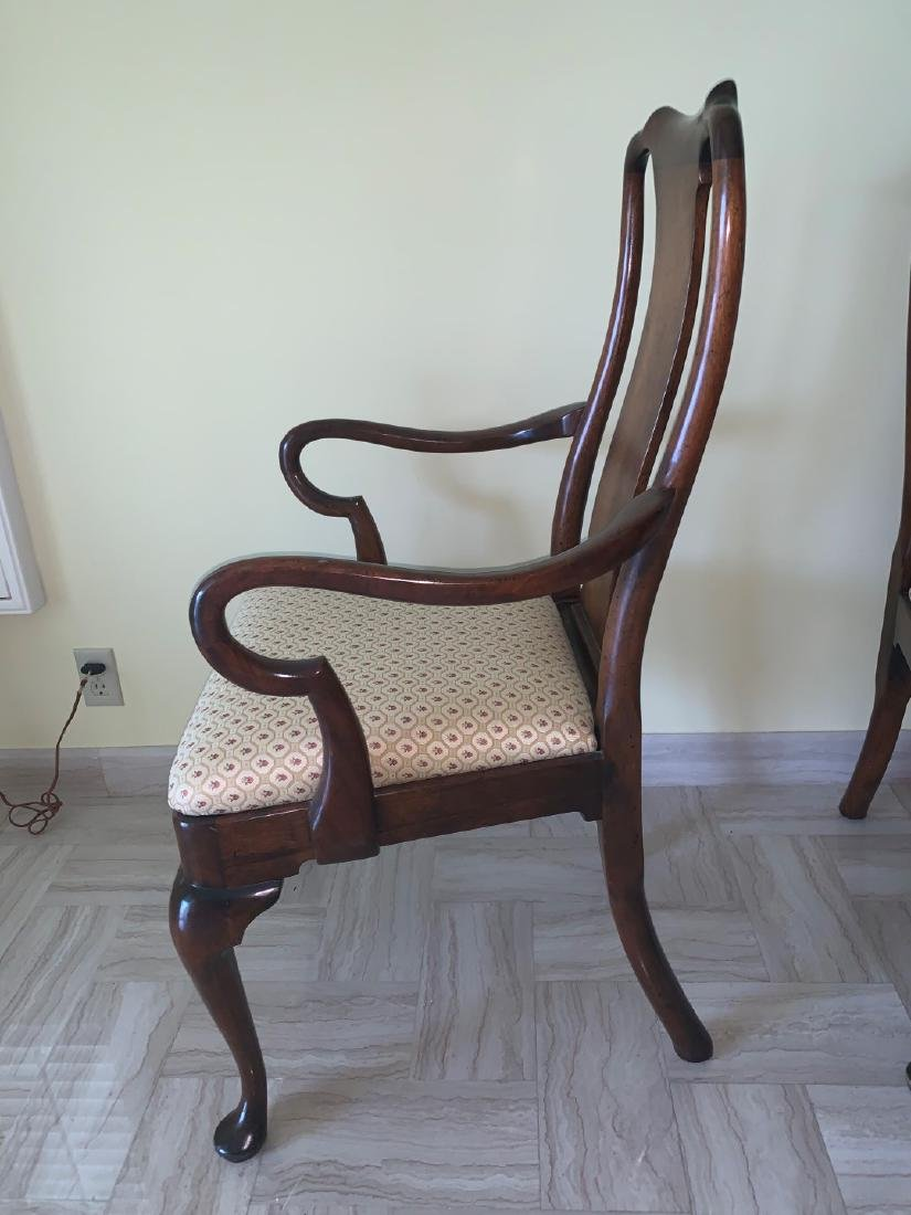 Mahogany Queen Anne style chairs, 1 arm, 1 side, small - 4