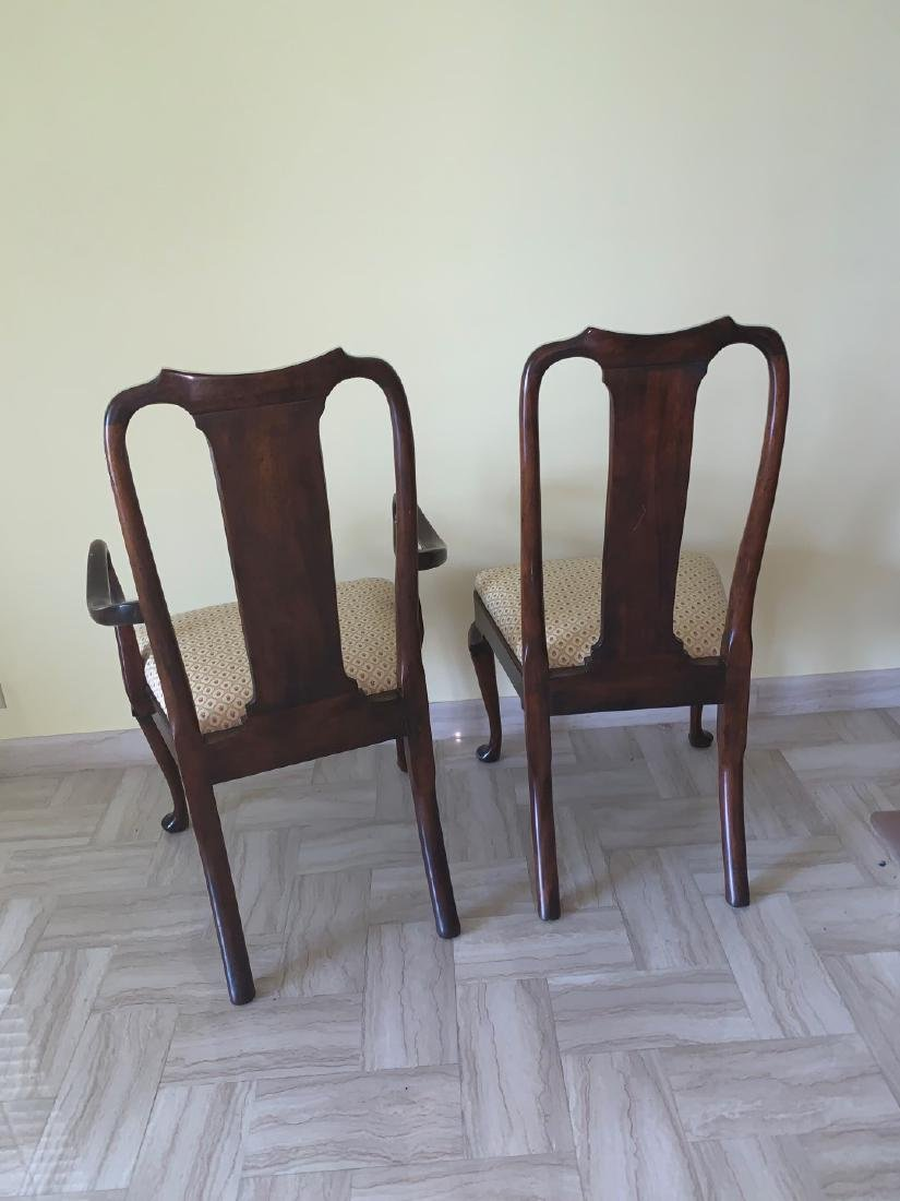Mahogany Queen Anne style chairs, 1 arm, 1 side, small - 6