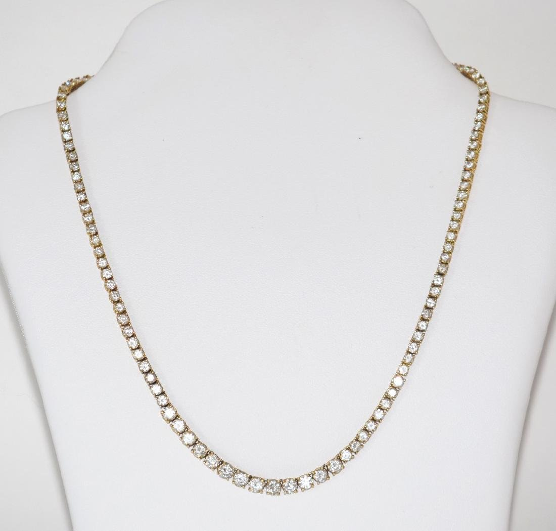 18kt yellow gold diamond necklace, clarity VS-SI, color