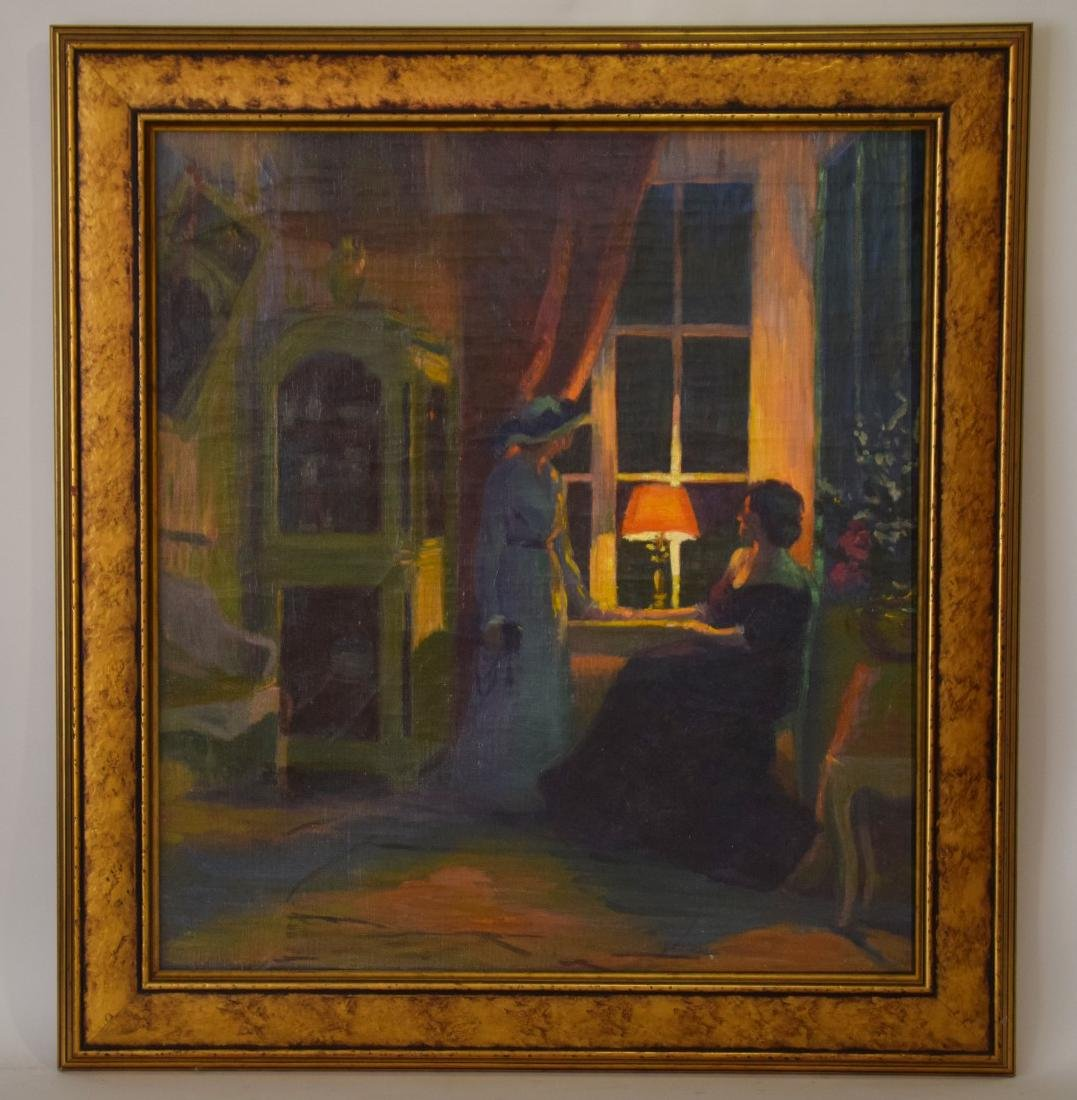 American School early 20th Century , oil on canvas,