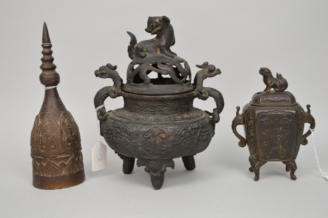 3 Early Chinese Bronze Articles. Early Chinese Bronze