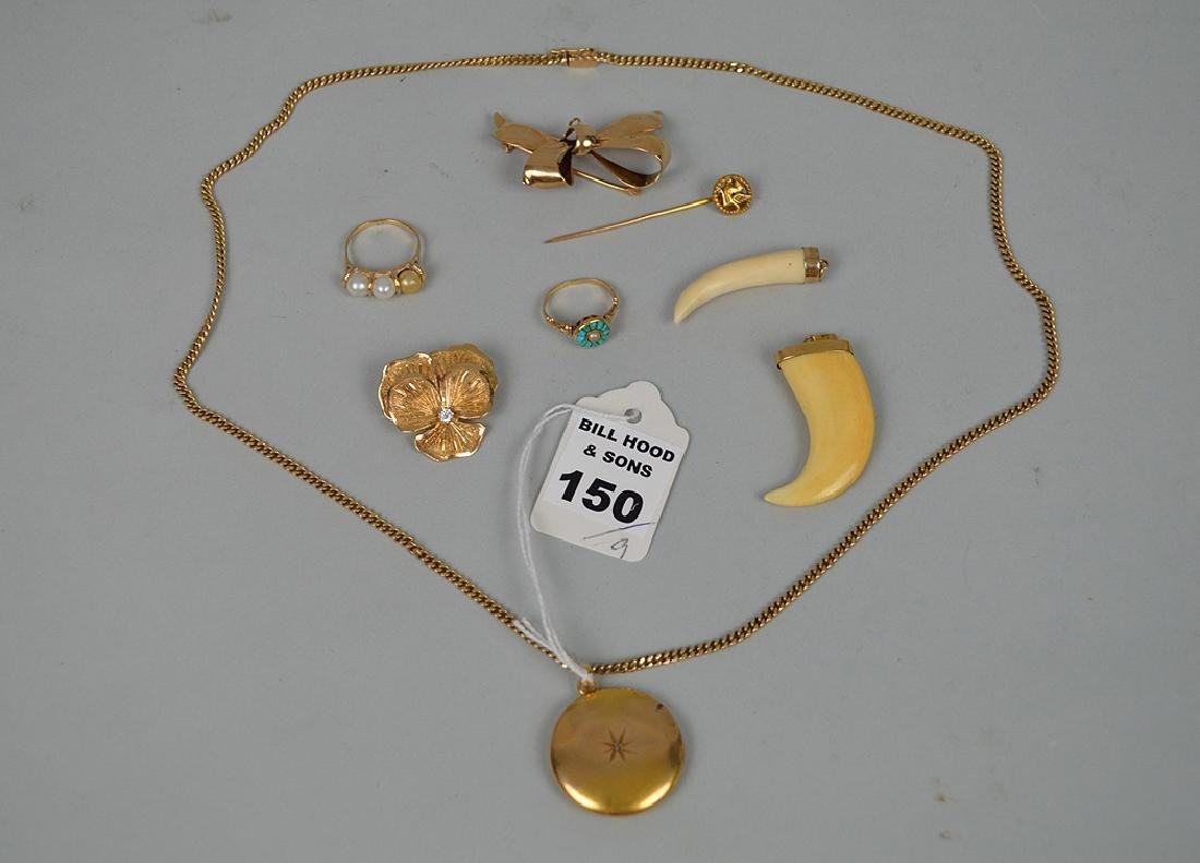 9 Articles of 14k Yellow Gold 44.4 grams Necklace with