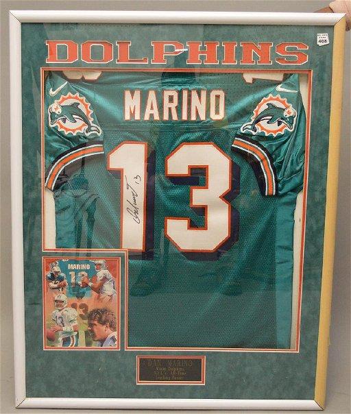 cheap for discount 08da9 9162d Framed dan Marino Jersey signed 40\