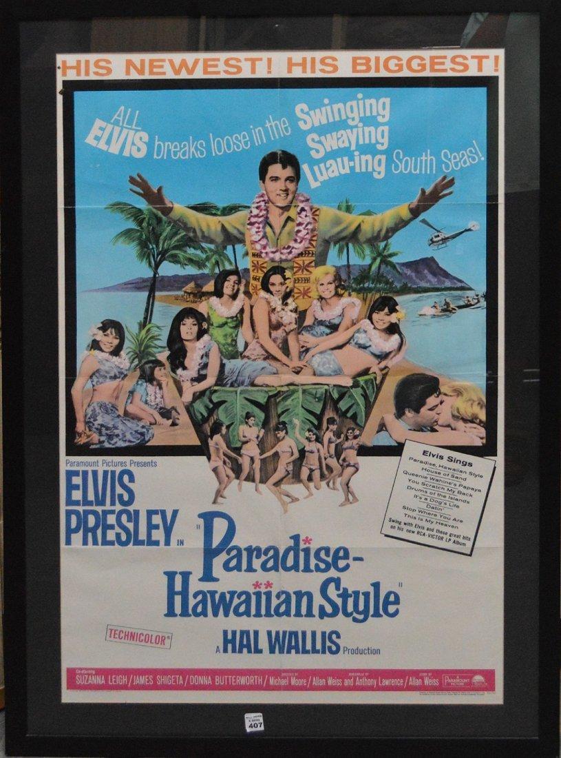87c5fb801a13e Framed Vintage Elvis Presley Poster.