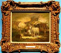 160A Charles E Jacques French 18131894 Oil Painting