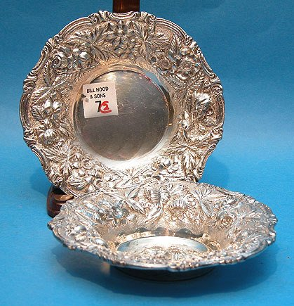7: Pair of Repousse Sterling Candy Dishes