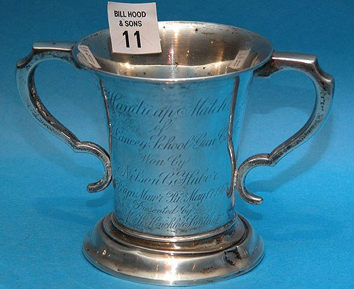 11: Sterling Double Handled Chalice
